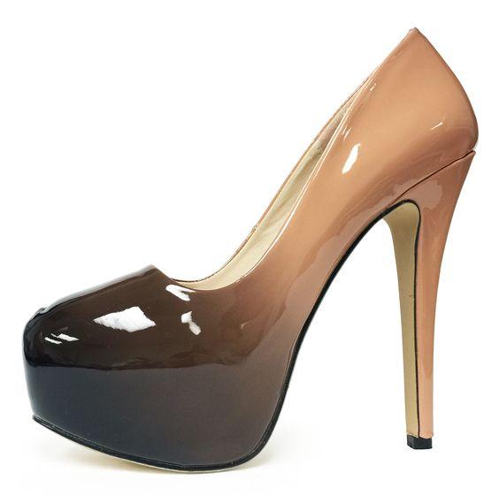 Marc Defang Exclusive Ombre Patent Leather High Platform Heel ...