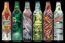 Awesome mtn dew bottles. Wish I  had these.