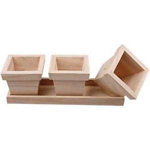 wooden plant pots - Google Search