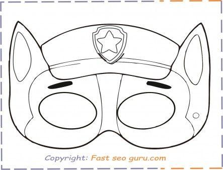 Pin Von Kristina Wittich Auf Paw Patrol Party Masken Zum Ausdrucken Masken Basteln Paw Patrol Everest