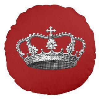 Fondo del personalizable de la corona del vintage cojín redondo