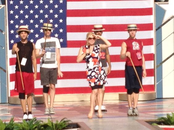Love this shot of Megan Hilty rehearsing for her July Fourth performance! #Smash