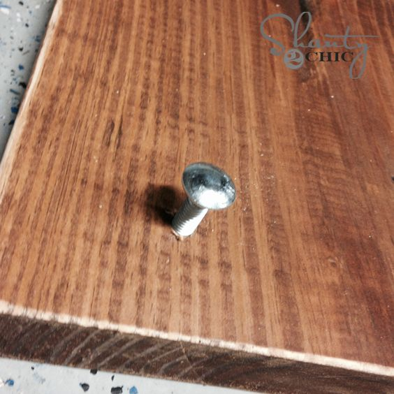 Carriage Bolt in Wood