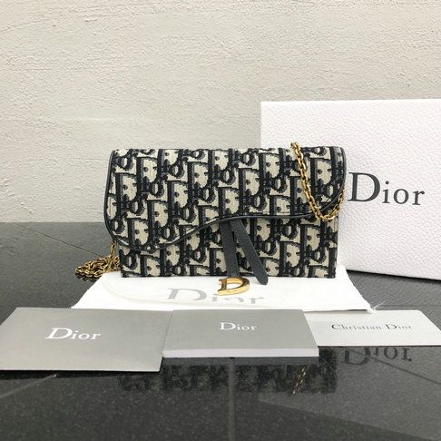 2018 Dior Oblique Saddle Long Wallet In Jacquard Canvas With Leather Details Dior Handbags Wallet Dior