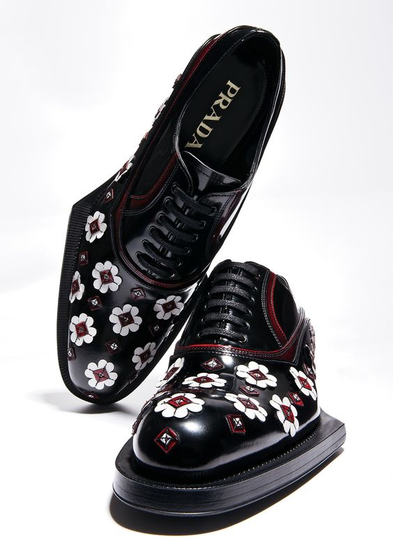 I love my Prada... and now they've given me this! Modern Edge: Prada lace-up shoes.
