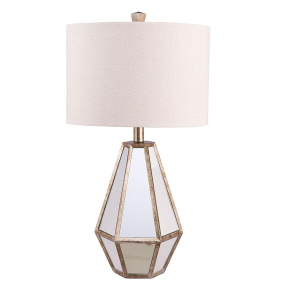 Mirrored Table Lamp silver or white
