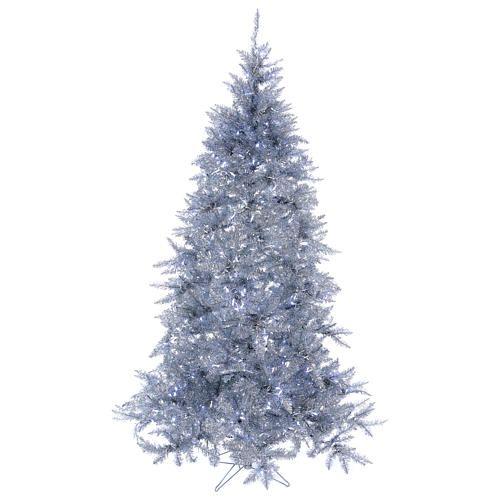 Albero Di Natale 500 Cm.Albero Di Natale 230 Cm Vintage Silver Abete Argento 500 Luci Led Interno Esterno Alberi Di Natale Led Vintage