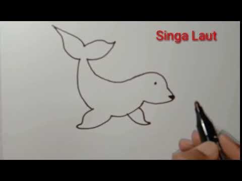 Cara Gambar Singa Laut Belajarlah Menggambar Kucing Terbesar Di Afrika Ini Dalam Langkah Langkah Singa Menggambar Singa Gambar Kucing Besar Cara Menggambar