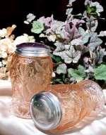 Glass Pink Strawberry Salt & Pepper