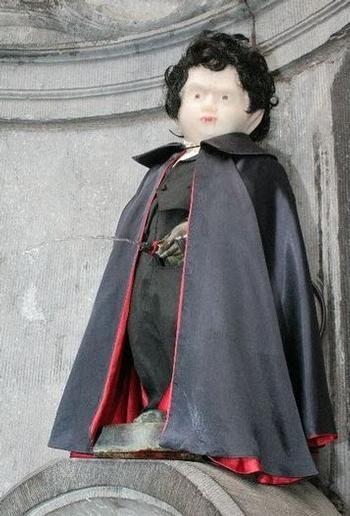 Manneken-Pis en Dracula -  Brussels, Belgium