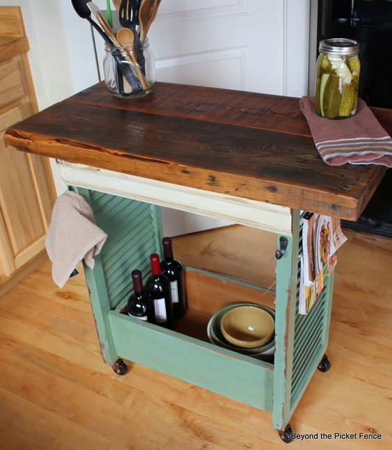 Kitchen Island Made With Shutters bec4-beyondthepic...