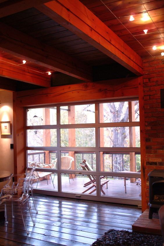 Aluminum And Glass Garage Door As A Window Wall Garage