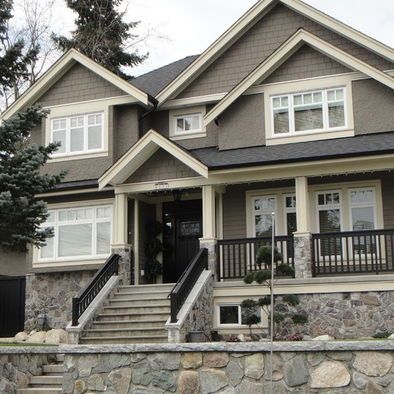 Cabin exterior paint schemes vancouver traditional for Cabin exterior paint colors