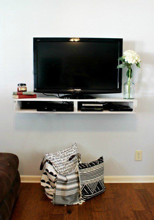 35 Awesome Diy Tv Stand Plans Woodworking Projects For Your Precious Weekend Floating Tv Shelf Tv Wall Shelves Floating Tv Stand
