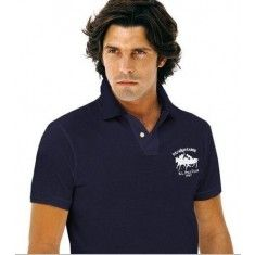 Ralph Lauren Men\u0026#39;s Short Sleeve Match Polo Shirt in Navy Blue Color