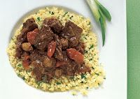 morocan braised beef with cous cous....delish. just tried it myself