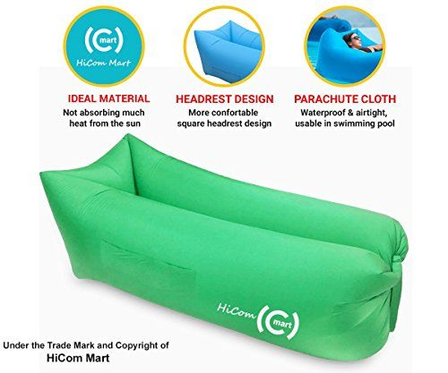 Great Camping Hammock Hicom Mart Portable Inflatable Lounger Air Chair Blow Up Couch Inflatable Lounge Chair Inf Sofa Couch Bed Inflatable Lounger Air Chair