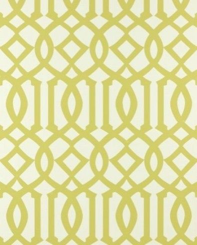 Imperial Trellis in Citrine | Schumacher  upholstery fabric