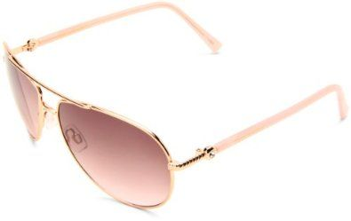 Amazon.com: Steve Madden Womens S5187 RGLD Aviator Sunglasses,Rose Gold Frame/Smoke To Pink Gradient Lens,One Size: Clothing