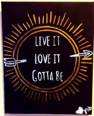 "Pi Beta Phi arrow - ""Live it, Love it, Gotta be PBP"" craft #piphi #pibetaphi"