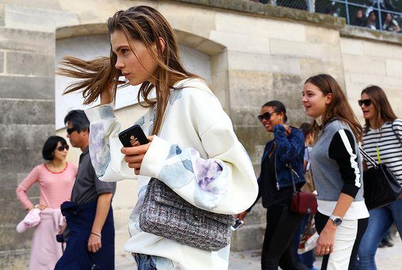 that Acne jumper & Chanel. #CarolineBraschNielsen #offduty in Paris.