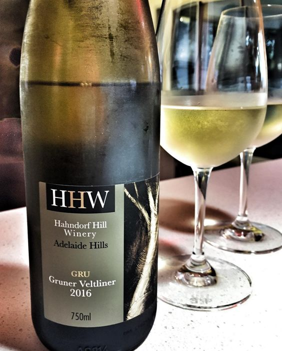 Cracking open my delightful Gruner Veltliner from @hahndorfhillwinery for a rainy evening.  This new variety is a thing in the Adelaide Hills so expect to see more. Give it a try and your be pleased that you did. #wine #adelaidehills #winery