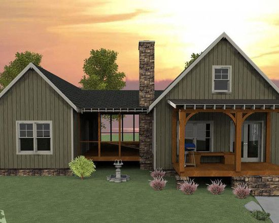 Plan 92318mx 3 bedroom dog trot house plan traditional for Craftsman style screened porch