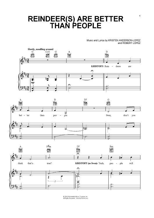 Disney frozen sheet music piano