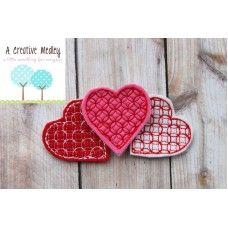 Moroccan Heart Feltie Embroidery Design