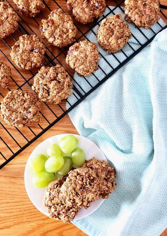 Gluten Free Raisin Date And Pecan Healthy Breakfast Cookies Recipe Sugar Free Breakfast Breakfast Cookies Healthy Healthy Cookies