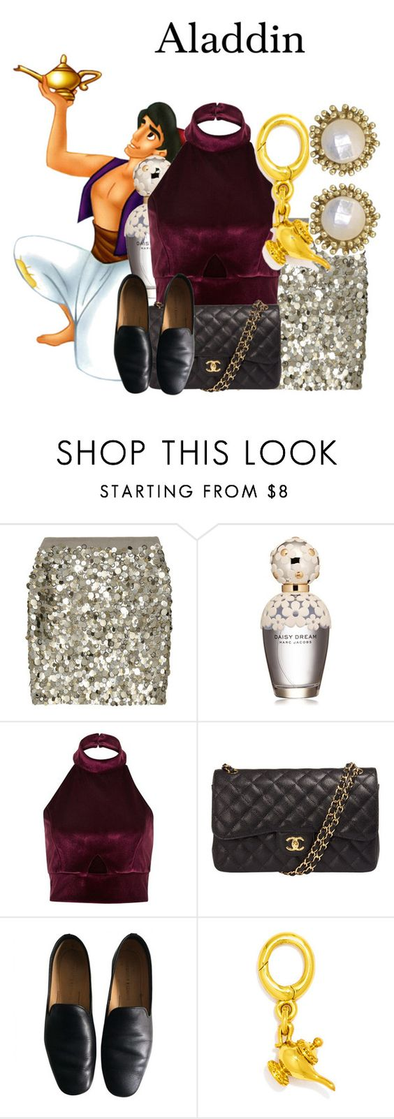 """Aladdin/Aladdin/1-11-16"" by megan-vanwinkle ❤ liked on Polyvore featuring Disney, J.Crew, Marc Jacobs, River Island, Chanel, Lemaire, BaubleBar and Kendra Scott"