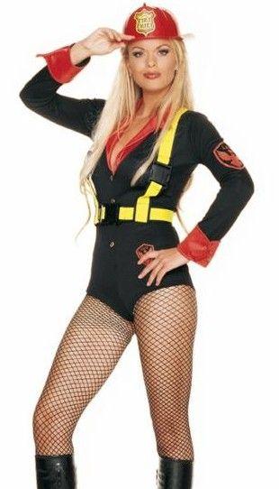 Female Firefighter Costume Led fire costume - female firefighter ...