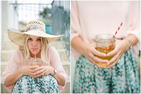 Mason jars and striped straws?  I have a ton we can use if you want?