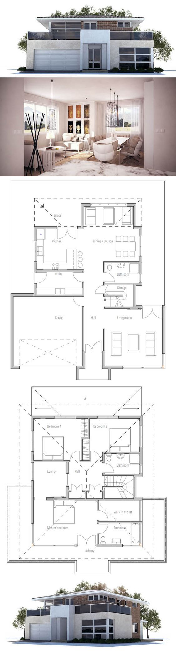 House Plan Home Design Pinterest Hauspläne, Muster Stoff und ... size: 564 x 2087 post ID: 0 File size: 0 B