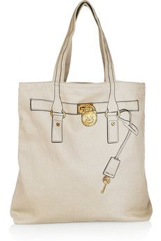 Kors Hamilton trompe l'oeil cotton canvass tote. Simply beautiful and so affordable ♥☀