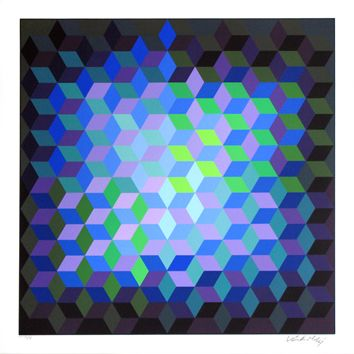 Victor Vasarely: Original serigraph signed: Unknown Title IX