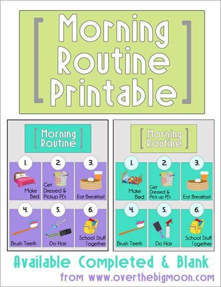 Morning Routine Printable: Back to School Series - The Benson Street
