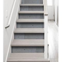 Escalier béton - contremarche imitation béton - adhésif pour escalier imitation béton - rénover son escalier