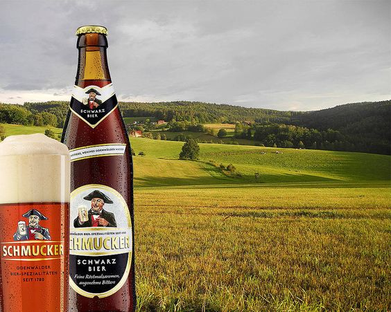 Bia Schmucker Schwarz Bier 4,8% - Chai 500ml