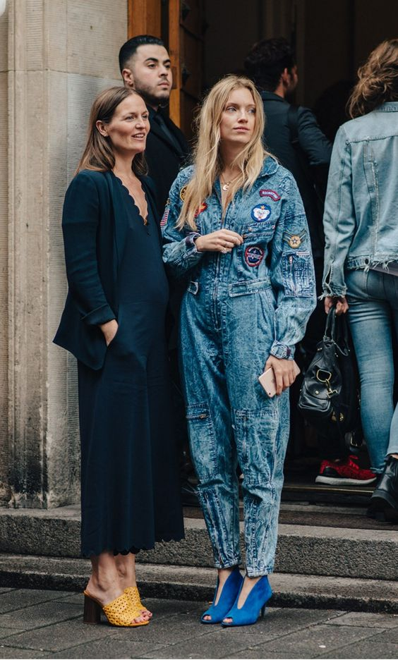 Denim Jumpsuit, Culottes