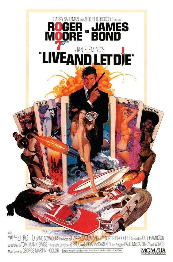 8. James Bond: Live And Let Die (1973)    007 played by: Roger Moore  Bond Girl: Jane Seymour (Solitaire)  Directed by: Guy Hamilton  Filming budget: $12,000,000  Time between this and previous release: 2 years