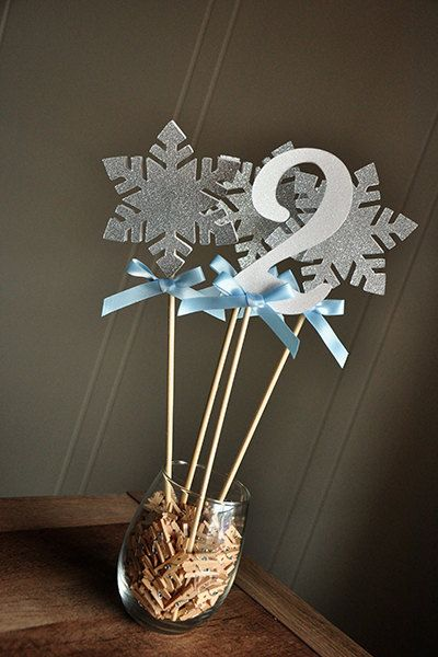 Frozen Centerpiece 4 Piece. Ships in 2-5 by ConfettiMommaParty