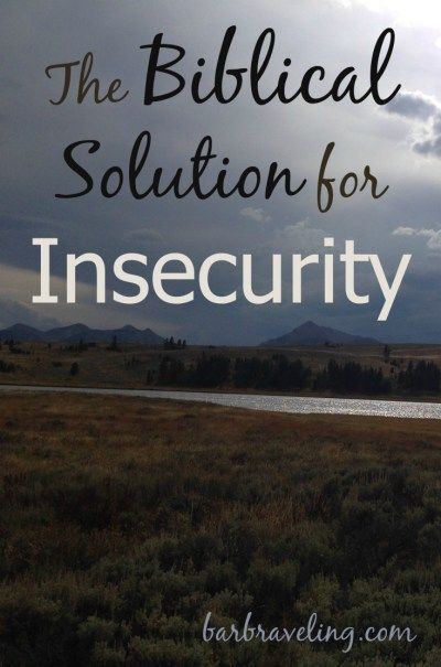 Insecurity bible study