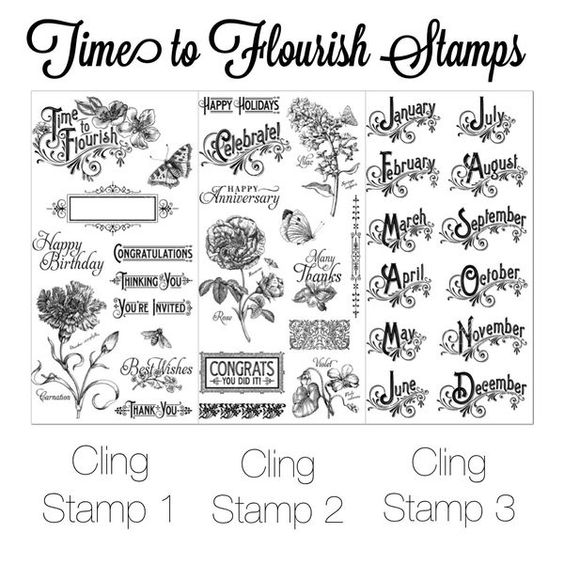 Time to Flourish Cling Stamps! In stores in early November 2014 #graphic45 #sneakpeeks