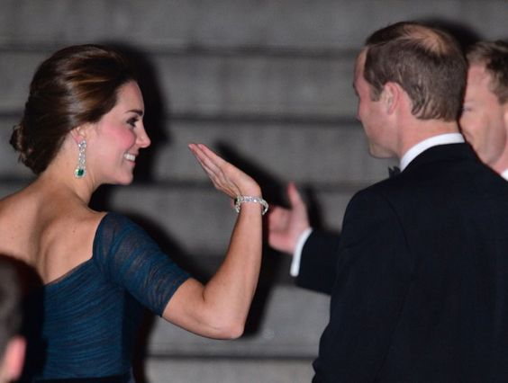 Pin for Later: 14 Moments From Will and Kate's NYC Visit That Will Make You Laugh When Kate Went in For the High Five and Will Totally Left Her Hanging OK, so she was probably just waving. Can't you just let us dream?!