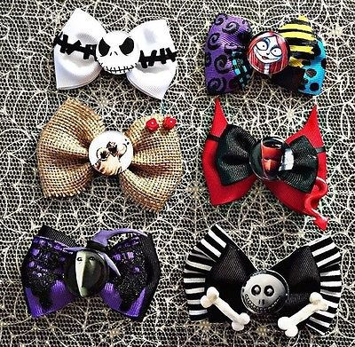 Nightmare-Before-Christmas-Mini-Hair-Bows: