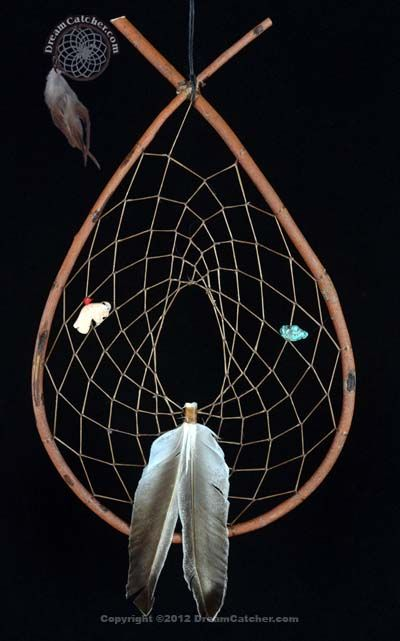 Red Willow Tee Pee Dream Catcher With Buffalo and Crystal
