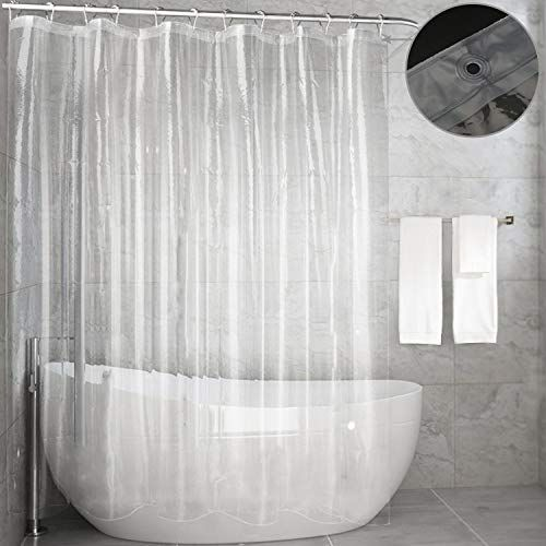 Feagar Clear Shower Curtain Liner Waterproof72x72 Inch Pvc Free
