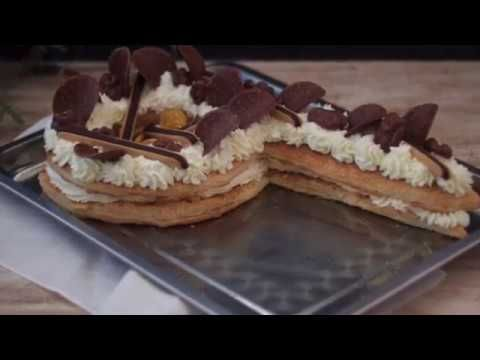 Sencilla Tarta Número Con Crema De Mascarpone Y Hojaldre Tartas Tartas De Hojaldre Crema De Mascarpone