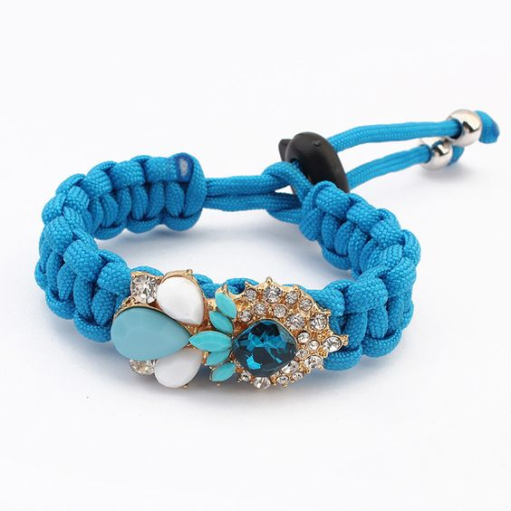 2014 New Charm Bracelets Free Shipping Candy Color Handmade Rope Bracelets for Women Colorful Shourouk Woven Bracelet Wholesale $5.29